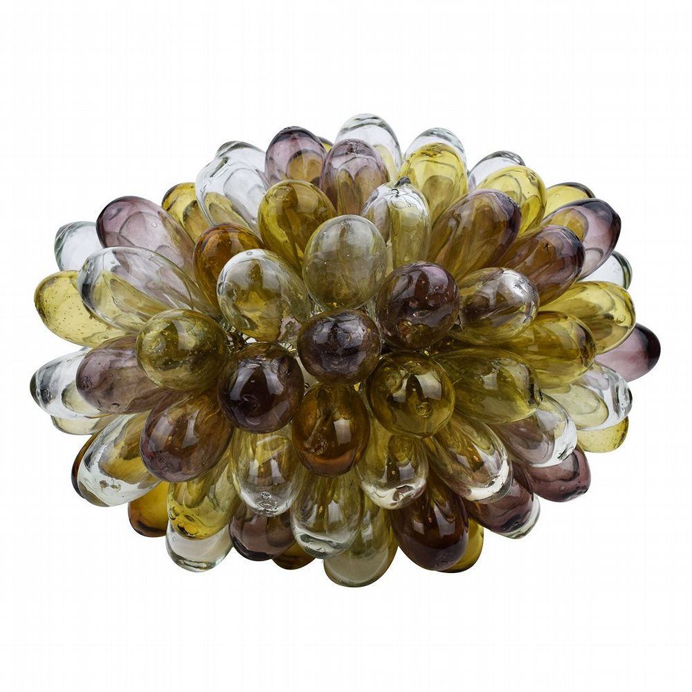 Recycled Glass Grape Lamp - Large - Clear,  Amber & Berry
